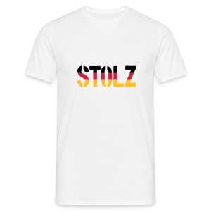 Stolz Germany Flag, Proud to be German - Men's T-Shirt
