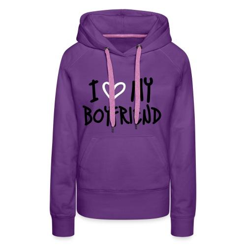 I ♥ MY BOYRFRIEND (Vrouwen) - Vrouwen Premium hoodie