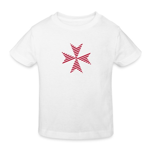Maltese Cross White - Kinder Bio-T-Shirt