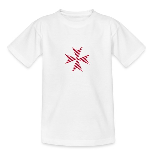 Maltese Cross White - Teenager T-Shirt