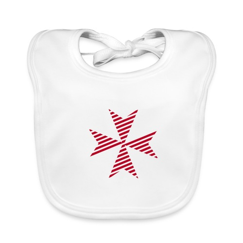 Maltese Cross White - Baby Bio-Lätzchen