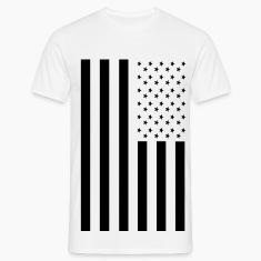 Blacked Out American Inspired Flag T-Shirts