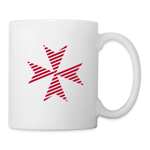 Maltese Cross White - Tasse