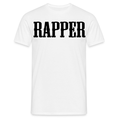Shirt Rapper Wit - Mannen T-shirt