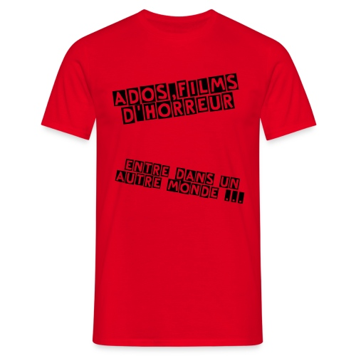 Tee shirt - Homme Ados,films d'horreur - Rouge - T-shirt Homme