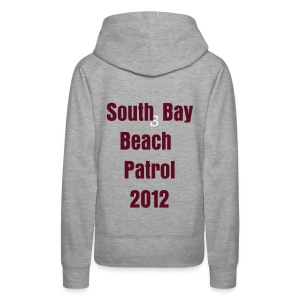 Scarborough Girls grey/burgandy hoodie - Women's Premium Hoodie