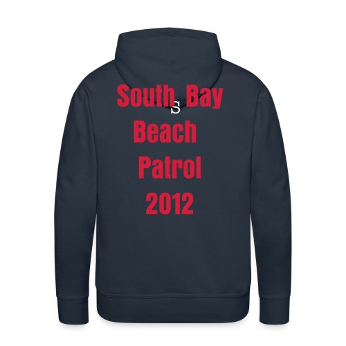 Scarborough mens navy/red hoodie - Men's Premium Hoodie