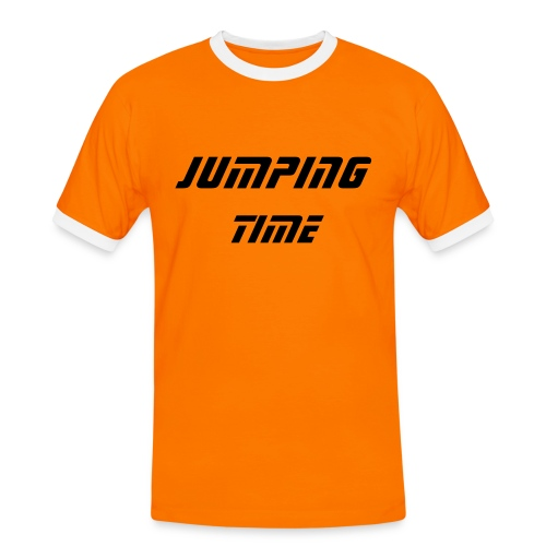 jumping time - Mannen contrastshirt