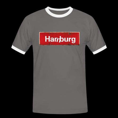 Hamburg oder Harburg? Beides! - Männer Kontrast-T-Shirt