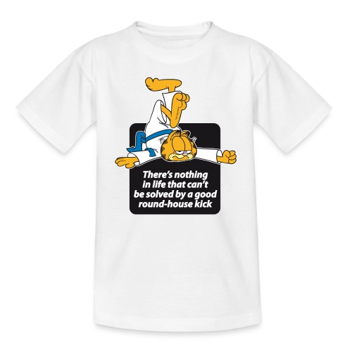 Garfield Kinder T-Shirt - Karate - Roundhouse Kick  - Teenager T-Shirt