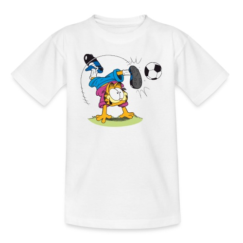 Garfield Kinder T-Shirt - Fussball - Ballkünstler spektakulär  - Teenager T-Shirt