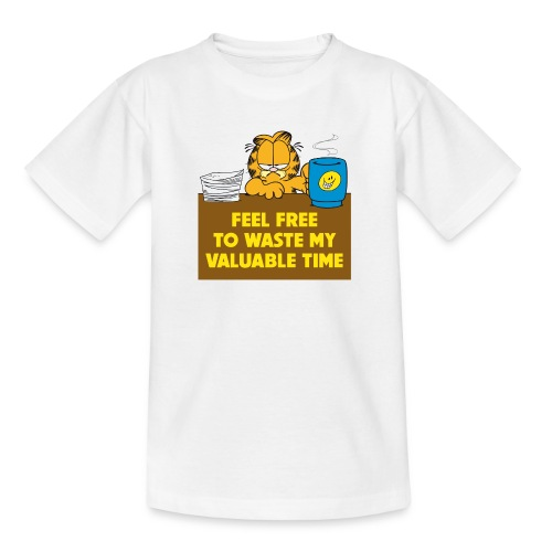 T-Shirt Garfield - Fais-moi perdre mon temps !  - Teenager T-Shirt