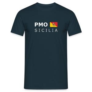 Classic T-Shirt PMO SICILIA white-lettered - Men's T-Shirt
