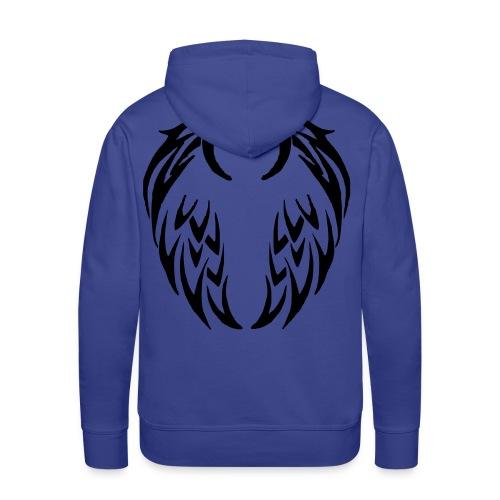 Sweat à capuche homme ailes tribales - Sweat-shirt à capuche Premium pour hommes