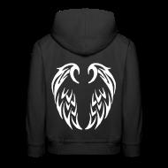 Sweats ~ Pull à capuche Premium Enfant ~ Pull à capuche enfant ailes tribales