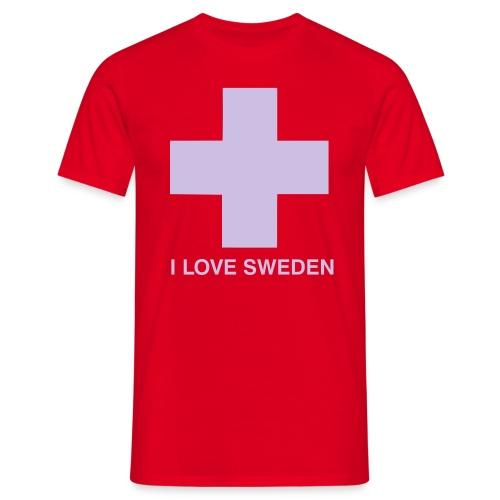 I LOVE SWEDEN - Männer T-Shirt