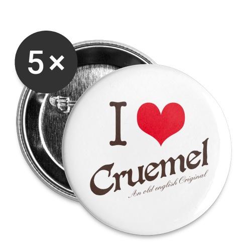 I heart Cruemel - Buttons mittel 32 mm