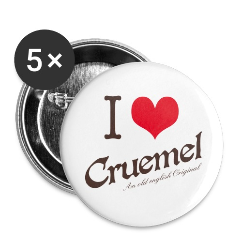 I heart Cruemel - Buttons groß 56 mm
