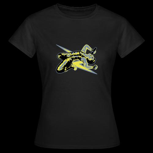 Rock God-Yellow/Silver - Women's T-Shirt
