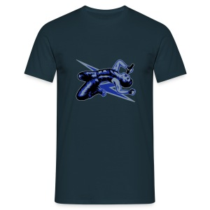 Rock God-Silver/Blue - Men's T-Shirt