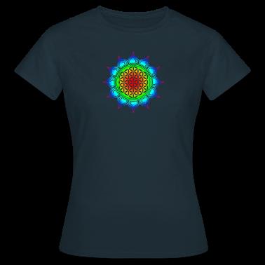 Blume des Lebens - Lotus - Flower of Life - Herz Chakra - Regenbogen - Symbol der Vollkommenheit und T-Shirts