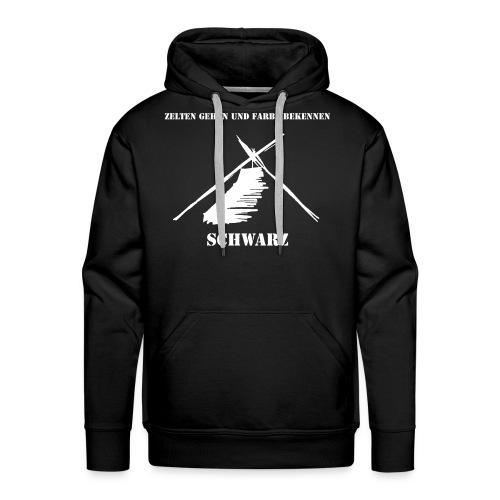ZELTEN GEHEN - SCHWARZ - Männer Premium Hoodie
