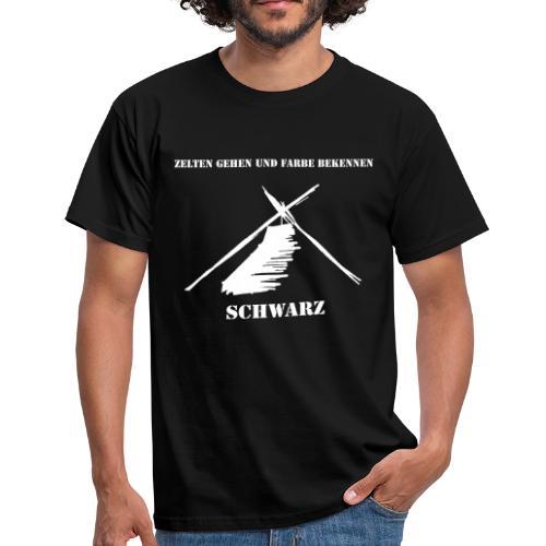 ZELTEN GEHEN - SCHWARZ - Männer T-Shirt