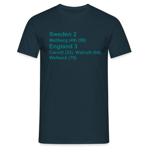 Sweden 2 England 3 (EC) - Men's T-Shirt