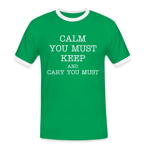 Yoda keep Calm - Men's Ringer Shirt