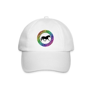 Celtic Rainbow Pony (black) Baseball Cap - Baseball Cap