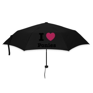 I love Ponies  - Umbrella (small)