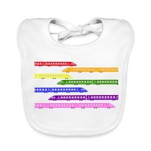 Colour Trains - Baby Organic Bib