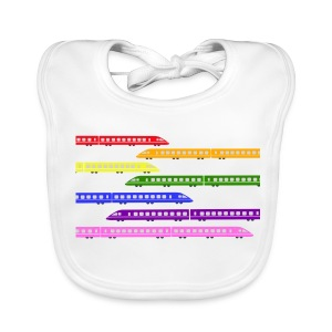 Colour Trains - Baby Organic Bib