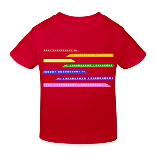 Colour Trains - Kids' Organic T-Shirt