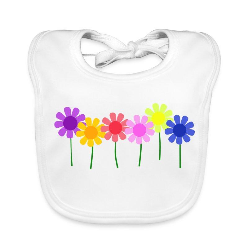 Flowers - Baby Organic Bib