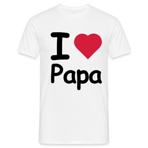 I Love Papa [Mannen] - Mannen T-shirt
