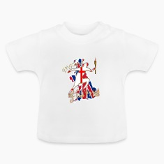 england st george uk torch runner Baby Shirts