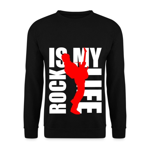 Pull homme rock is my life - Sweat-shirt Homme