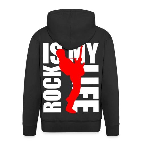 Veste à capuche homme rock is my life - Veste à capuche Premium Homme