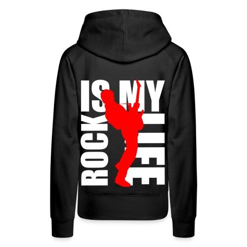 Sweat à capuche femme rock is my life - Sweat-shirt à capuche Premium pour femmes