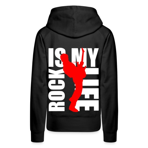 Sweat à capuche femme rock is my life - Sweat-shirt à capuche Premium pour femmes