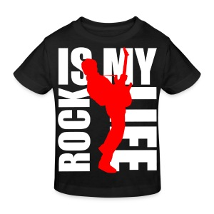 T shirt enfant rock is my life - T-shirt Bio Enfant