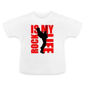 T shirt bébé rock is my life - T-shirt Bébé