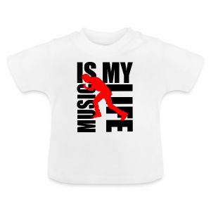 T shirt bébé music is my life - T-shirt Bébé