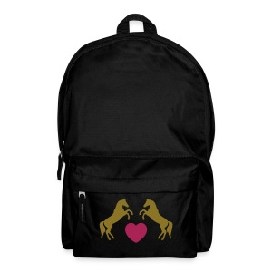 Horse love - gold metallic - Backpack