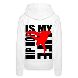 Sweat à capuche femme hip hop is my life - Sweat-shirt à capuche Premium pour femmes