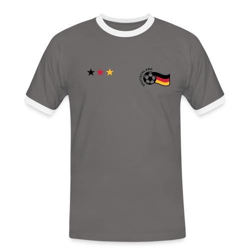 Retro Shirt Deutschland - Männer Kontrast-T-Shirt
