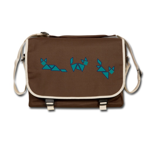 tagram cat fox blue - Shoulder Bag