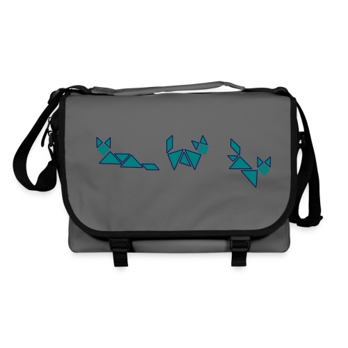 tagram cat fox blue - Shoulder Bag