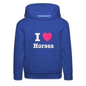 I love Horses - Kids' Premium Hoodie